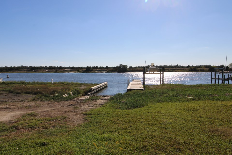 on bogue sound and intracoastal waterway build a new 2 story home for even better water views!